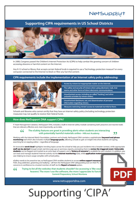 Supporting CIPA requirements in US School Districts brochure