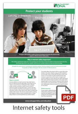 NetSupport DNA internet safety brochure