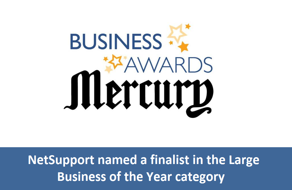 NetSupport is a finalist in the Mercury Business Awards!