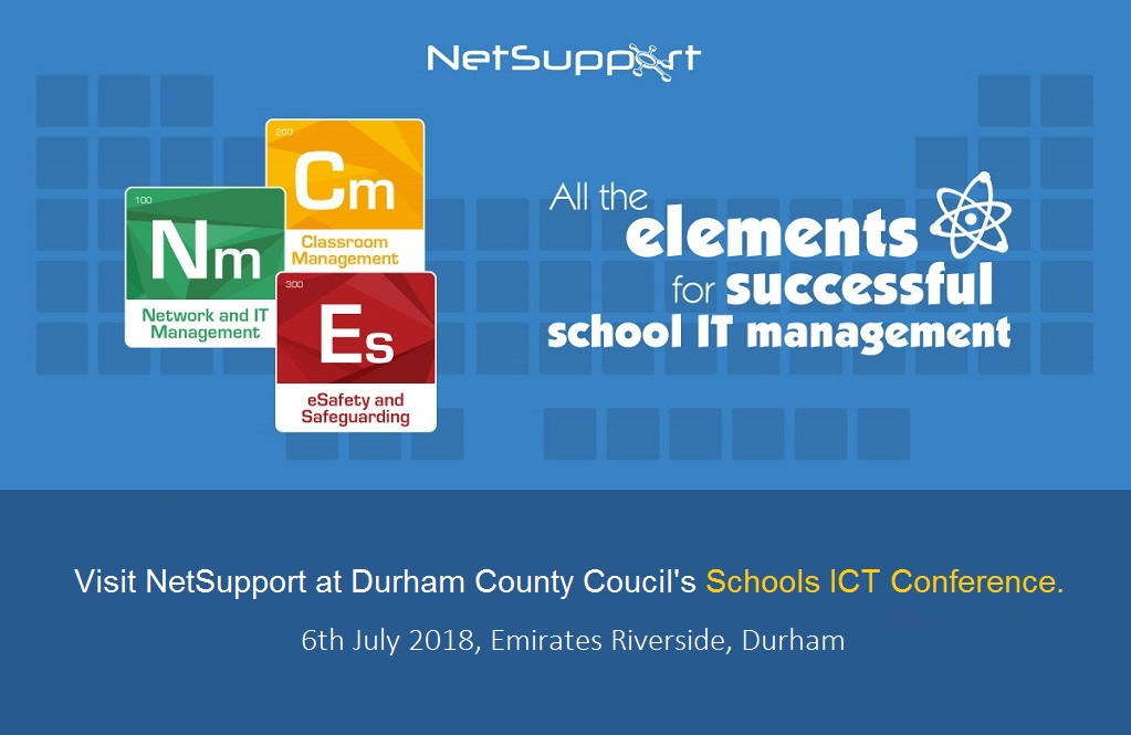 Visit NetSupport at the School ICT conference in Durham