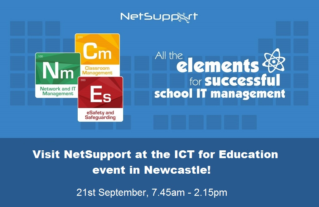 Visit NetSupport at the ICT for Education event in Newcastle!