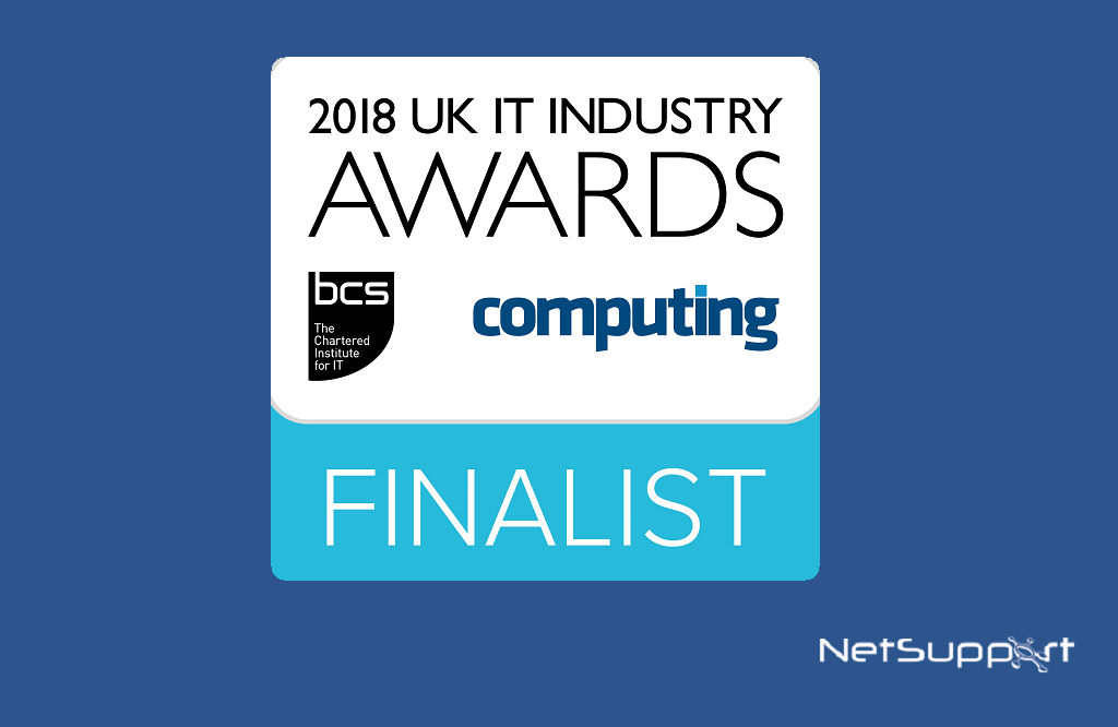 NetSupport is shortlisted in the UK IT Industry Awards!
