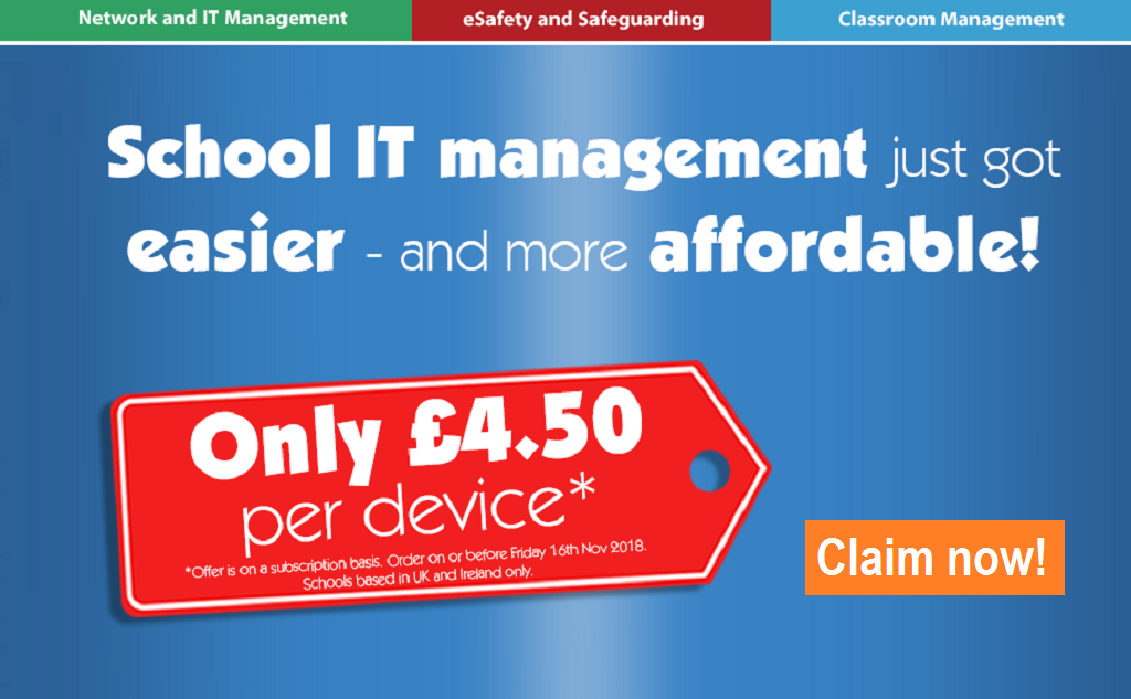 Special offer for UK and Ireland schools
