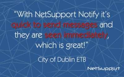 City of Dublin ETB reviews NetSupport Notify