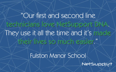 """NetSupport DNA described as """"brilliant"""" by Fulston Manor School"""
