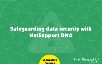 How is safeguarding data secure in NetSupport DNA?