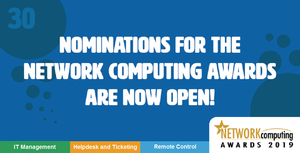 2019 Network Computing Awards now open