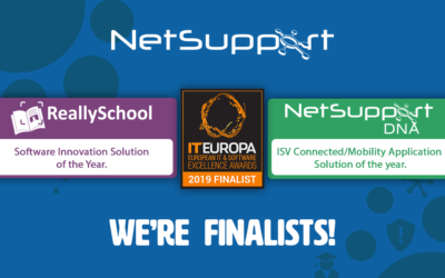 NetSupport is a double finalist in the European IT & Software Excellence Awards 2019!