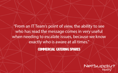 Commercial Catering Spares reviews NetSupport Notify