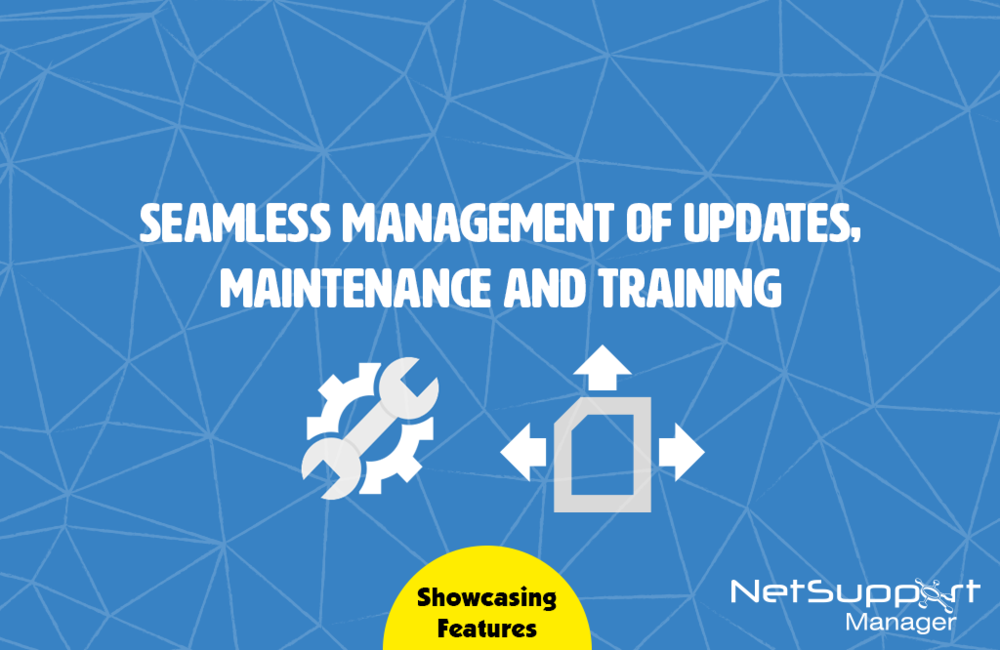 Seamless management of updates, maintenance and training