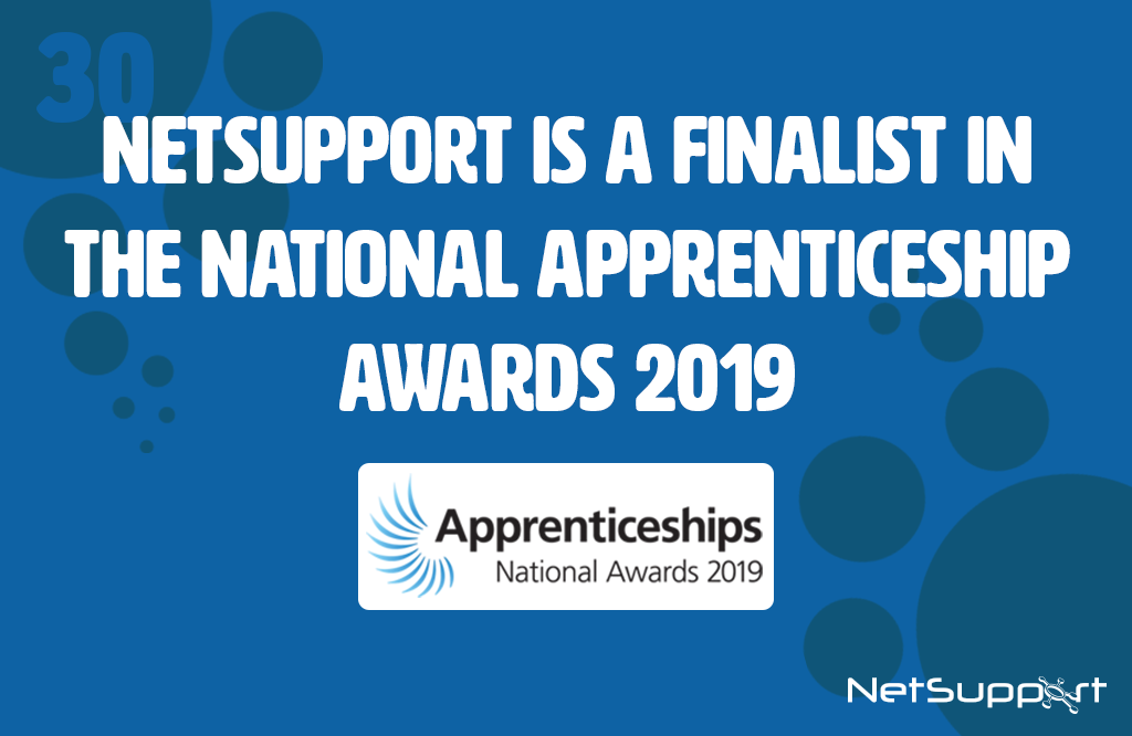 NetSupport is a finalist in the National Apprenticeship Awards 2019
