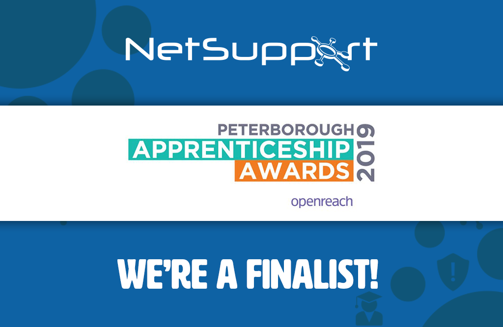 NetSupport is a finalist in the Peterborough Telegraph Apprenticeship Awards
