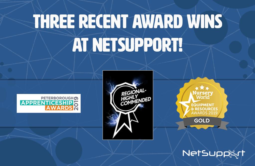 Three recent award wins at NetSupport…