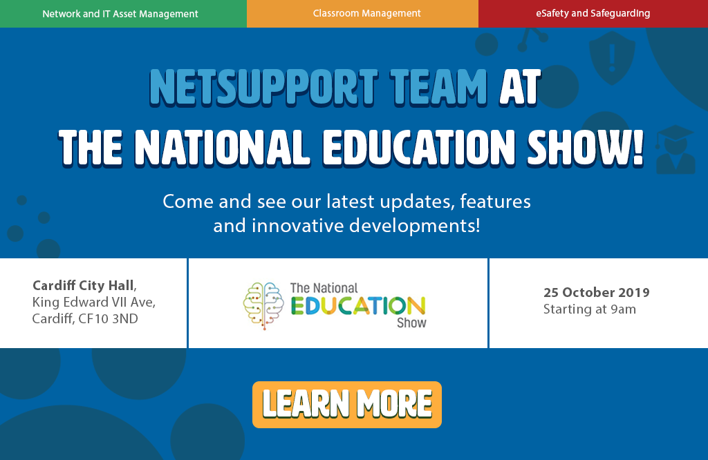 Don't miss NetSupport at the National Education Show!