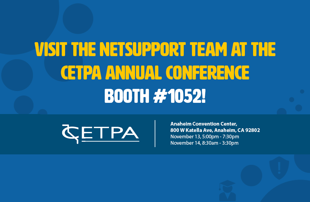Visit NetSupport at the CETPA annual conference!