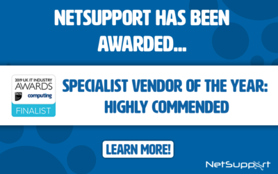 NetSupport awarded 'highly commended' in the UK IT Industry Awards!