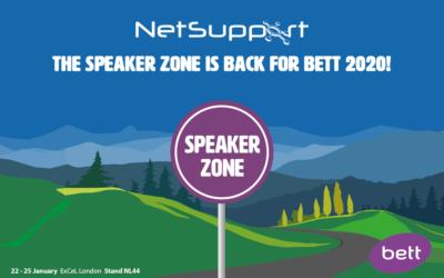 The speaker zone is back for Bett 2020!