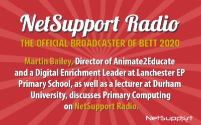 Martin Bailey joins NetSupport's Speaker Zone at Bett 2020!