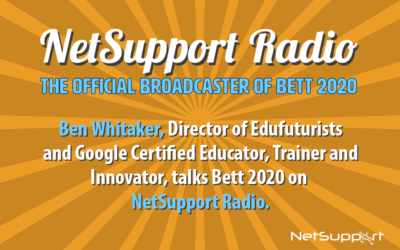 Just confirmed – Ben Whitaker will be presenting on NetSupport's stage at Bett 2020!