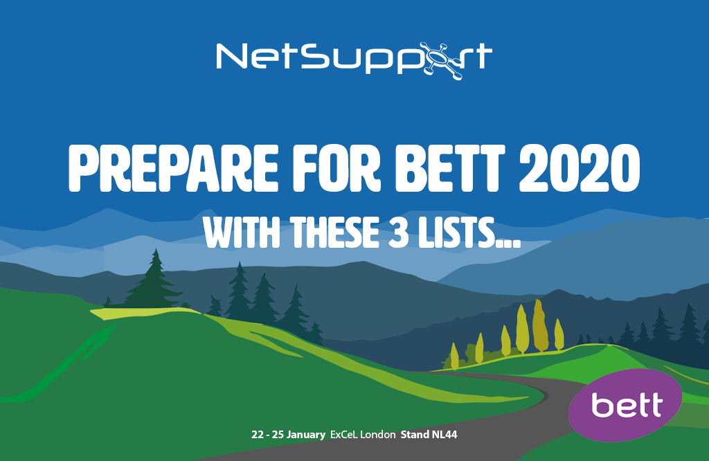 Prepare for Bett 2020 with these 3 lists!