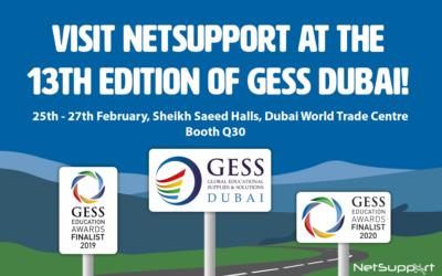 Visit NetSupport at GESS Dubai 2020!