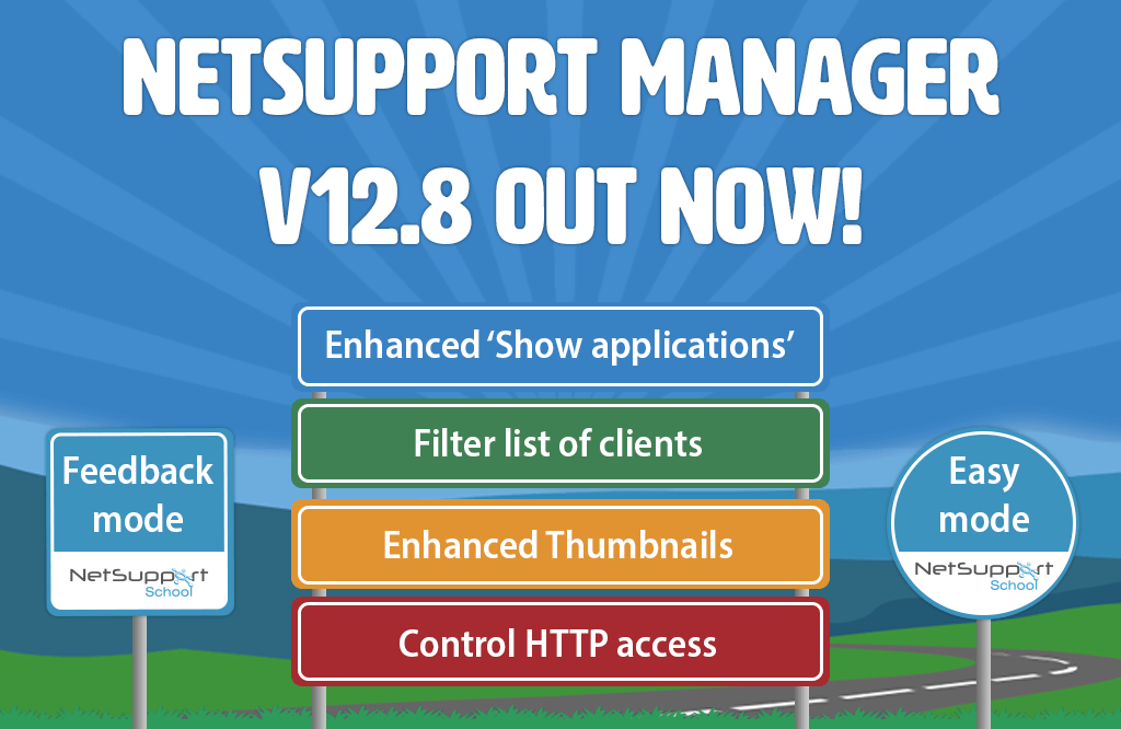NetSupport Manager – version 12.8 out now!