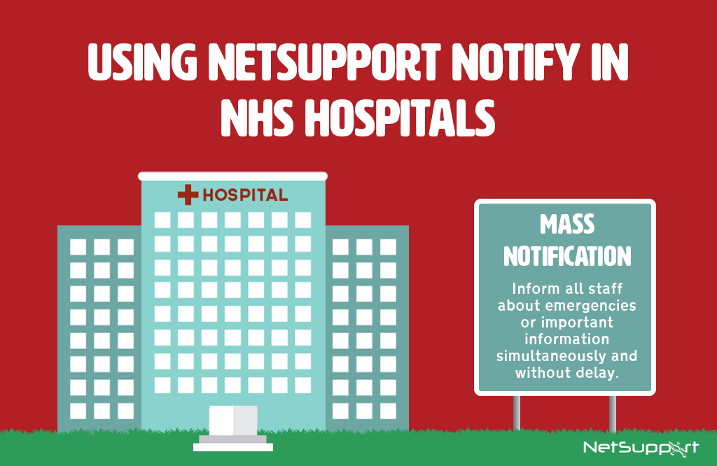 How NetSupport Notify can help NHS hospitals…