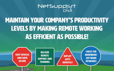 Maintain productivity in your organisation with NetSupport DNA