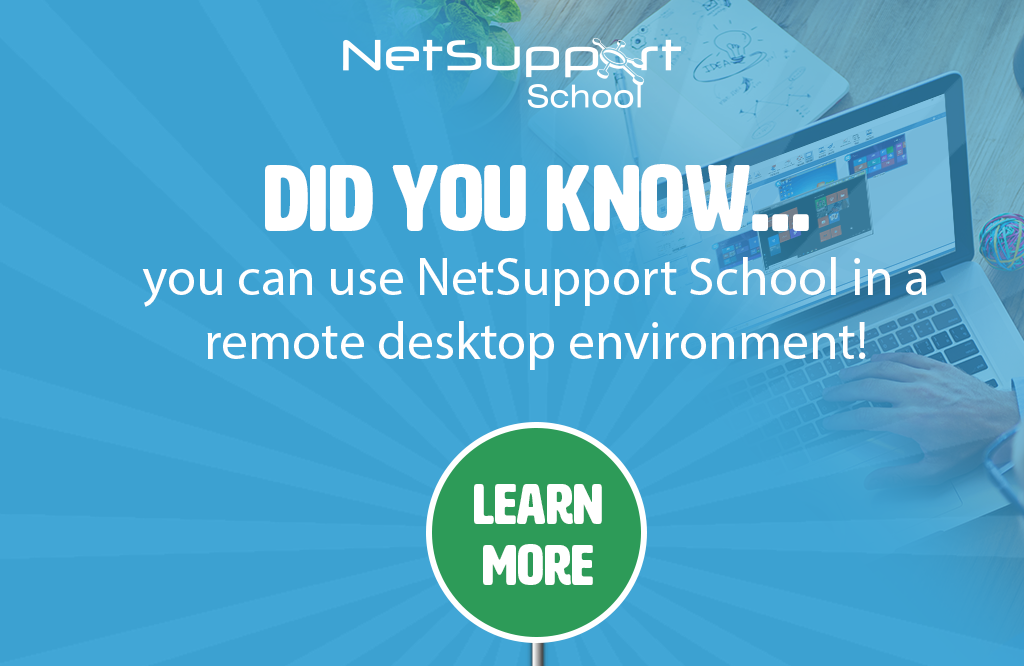 Deliver lessons as normal in a remote desktop environment!