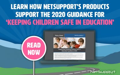 Learn how NetSupport's products support the 2020 guidance for 'Keeping Children Safe in Education'.
