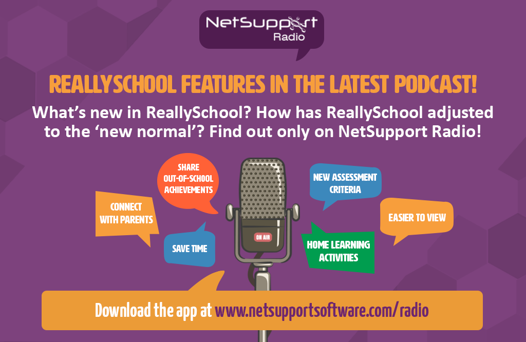 ReallySchool features in the latest NetSupport Radio podcast!