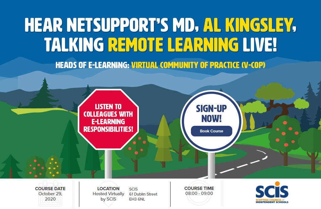 NetSupport's MD, Al Kingsley, is a guest speaker in the e-Learning online course!
