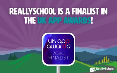 ReallySchool is a finalist in the UK App Awards!