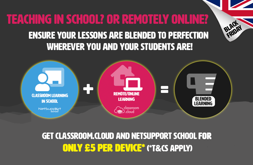 Equip your school with in-school and remote learning tools for less – with our Black Friday offer!