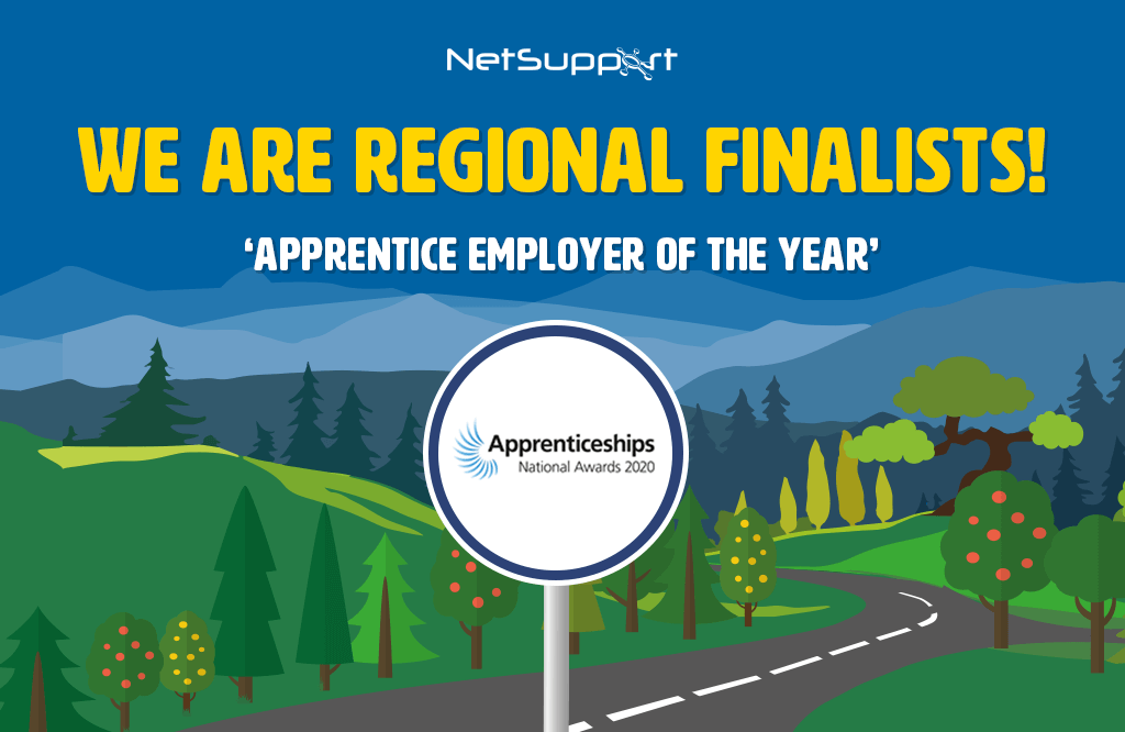 NetSupport is a Regional Finalist in the National Apprenticeship Awards 2020!