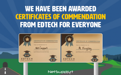 We have been awarded Certificates of Commendation from Edtech for Everyone!