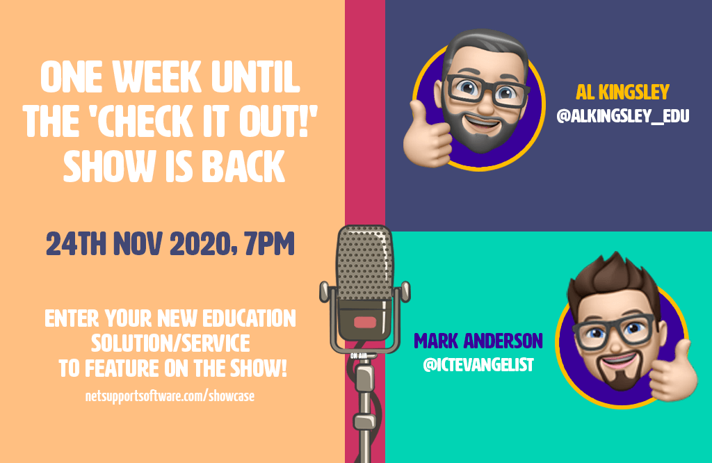One week to go until the 'Check it out!' show, episode 2!