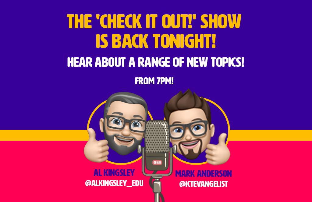 The 'Check it out!' show returns tonight…