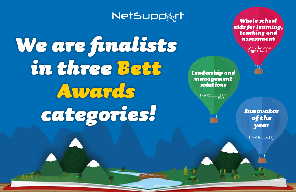 We are finalists in three Bett Awards Categories!