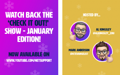 Watch back the 'Check it out!' show – January edition!
