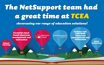 The NetSupport team had a great time during TCEA!
