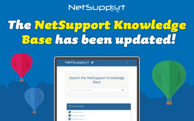 The NetSupport Knowledge Base has been updated!