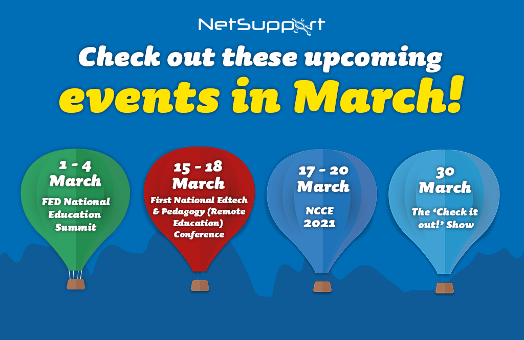 Check out these upcoming events in March!