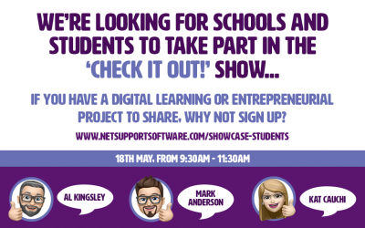 We're looking for schools and students to take part in the 'Check it out!' show…