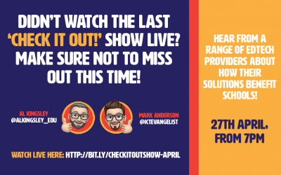 Make sure to watch the 'Check it out!' show tonight!