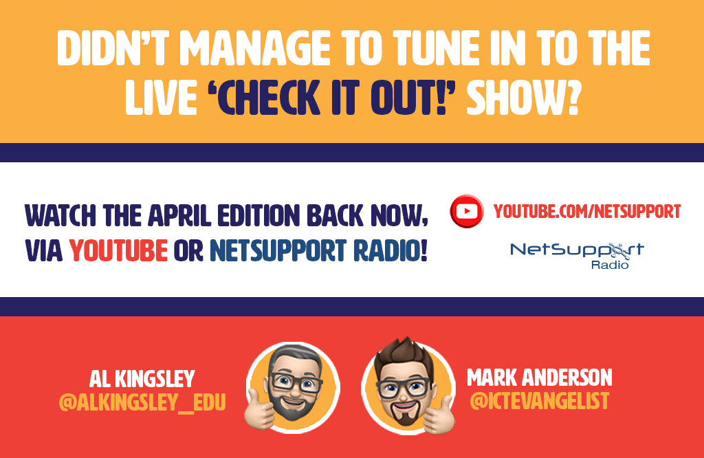Didn't manage to tune in to the live 'Check it out!' show?