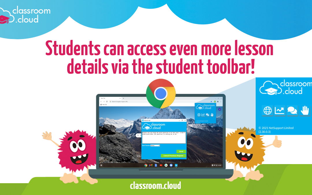 New enhancement for classroom.cloud Students' Chromebooks just out!