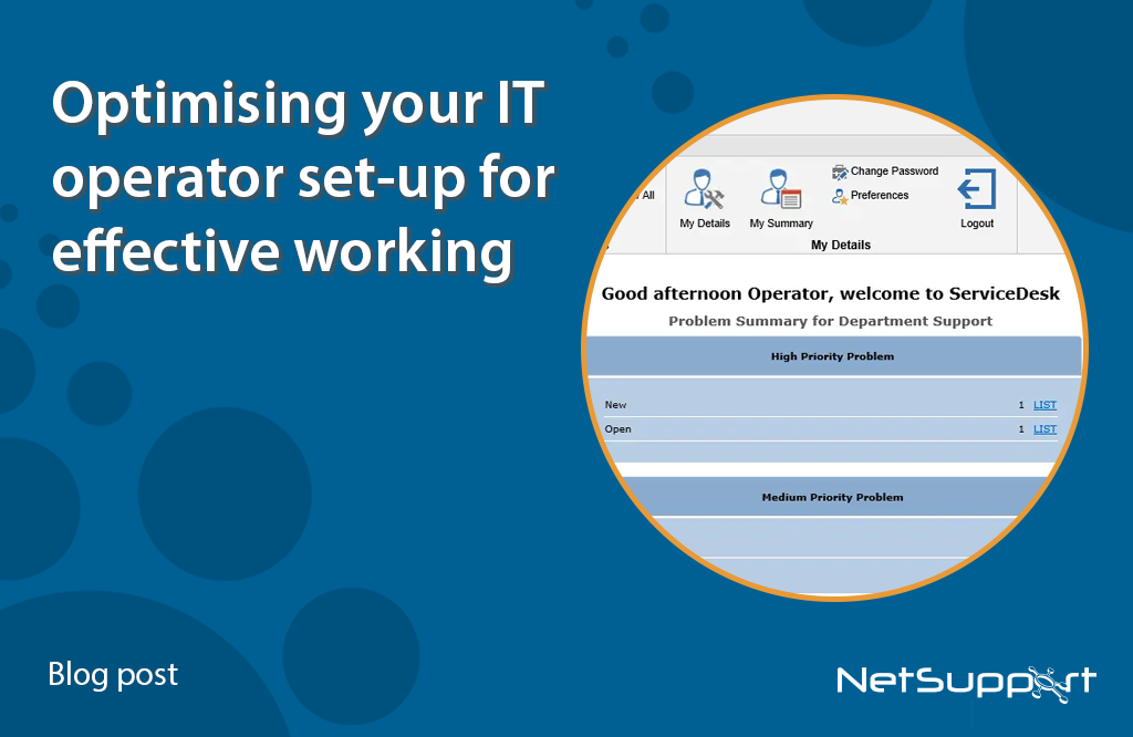 Optimising your IT operator set-up for effective working