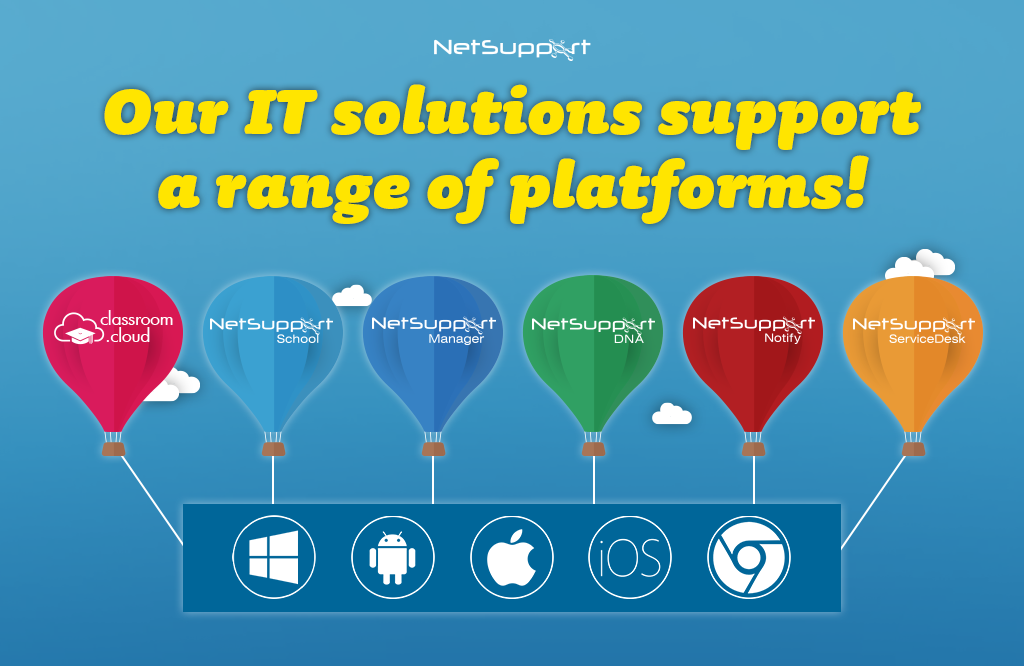 Our IT solutions support a range of platforms!