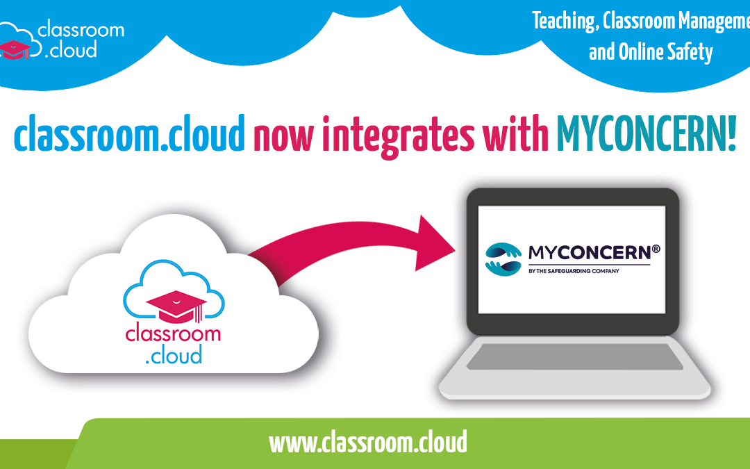 classroom.cloud now fully integrates with MYCONCERN to further protect and support vulnerable students